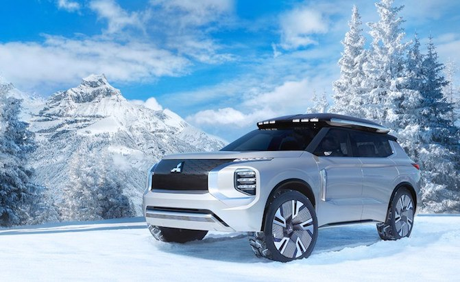 Mitsubishi Engelberg Tourer Concept is as Boxy as it is Electric