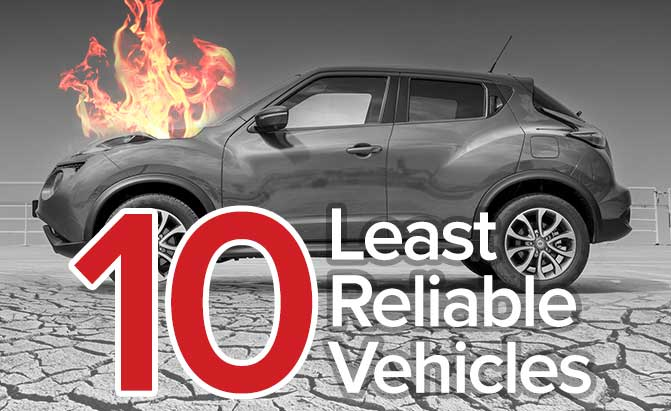 Top 10 Most Unreliable Cars â The Short List