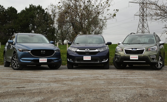 mazda cx5 vs honda crv vs subaru forester
