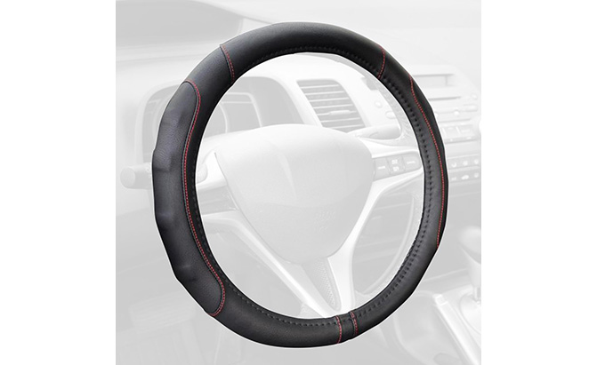 motor trend gripdrive pro synthetic leather steering wheel cover