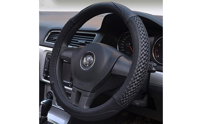 moyishi top leather steering wheel cover