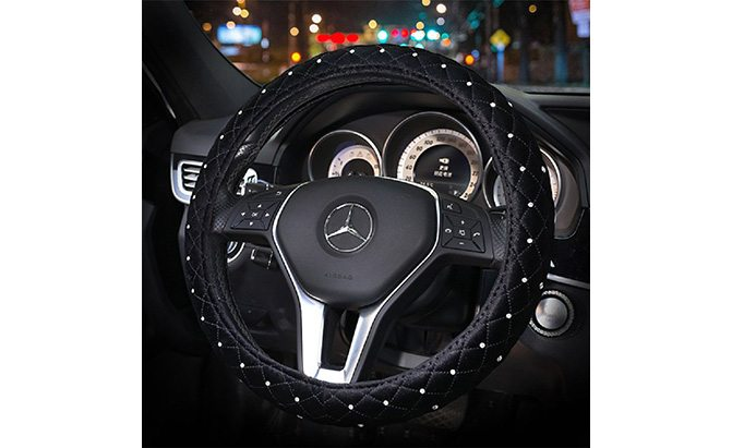 sino banyan crystal steering wheel cover