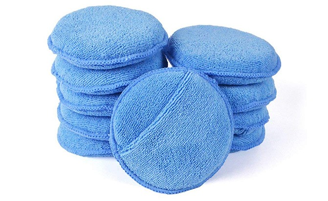 autocare microfiber wax applicator