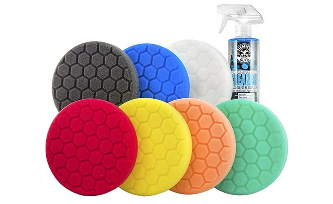 chemical guys hex-logic buffing pad kit
