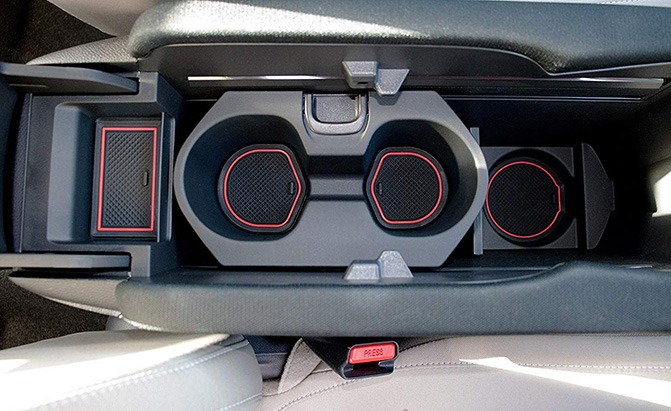 cupholderhero center console liner accessories for honda civic