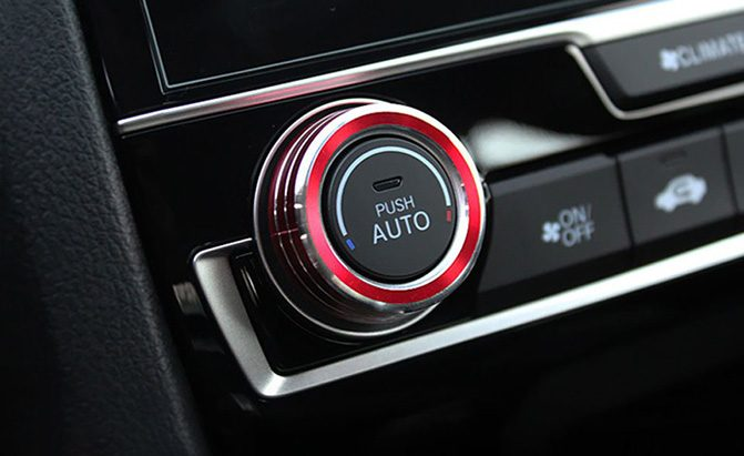 ijdmtoy anodized aluminum climate control ring knob covers