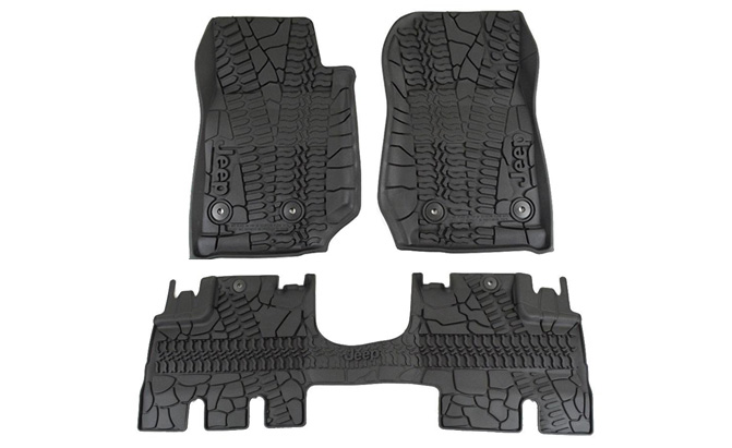 mopar jeep wrangler all-weather floor mat set