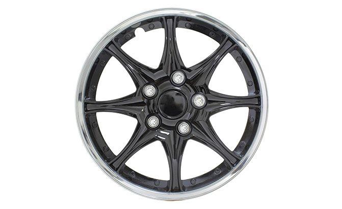 pilot universal fit black and chrome wheel covers