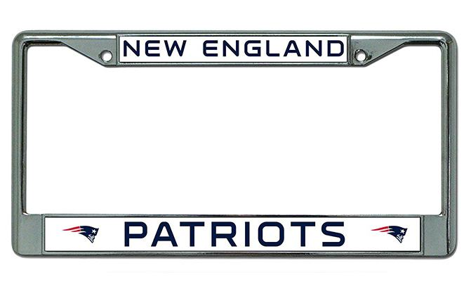 rico industries nfl chrome license plate frame