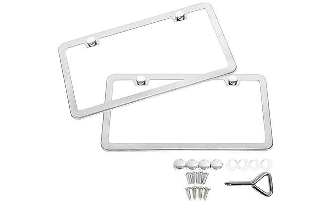 sunplustrade stainless steel license plate frame
