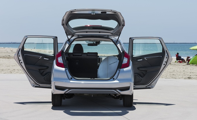 Honda Fit trunk