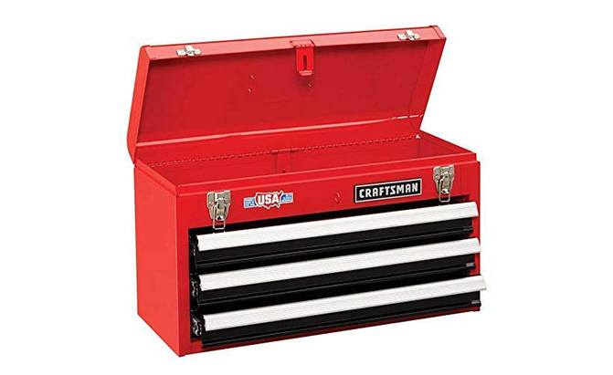 craftsman 3-drawer metal tool box