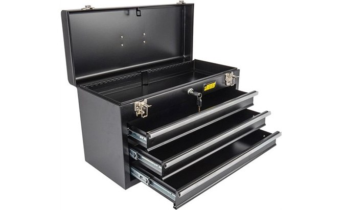 jegs black 3-drawer tool box