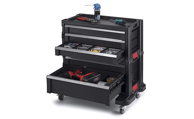 keter 5-drawer modular garage and tool organizer