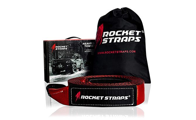 rocket straps heavy duty tow strap