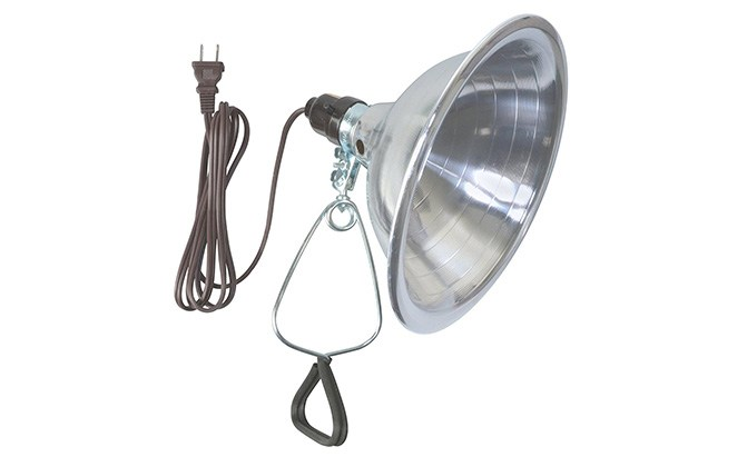 woods clamp light with aluminum reflector