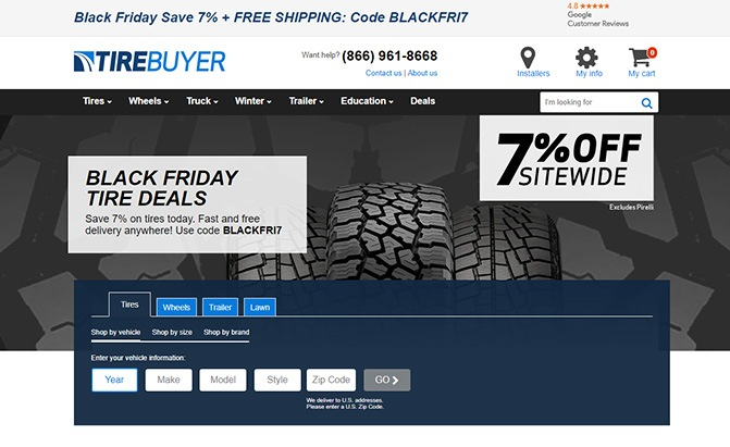 tirebuyer black friday deal
