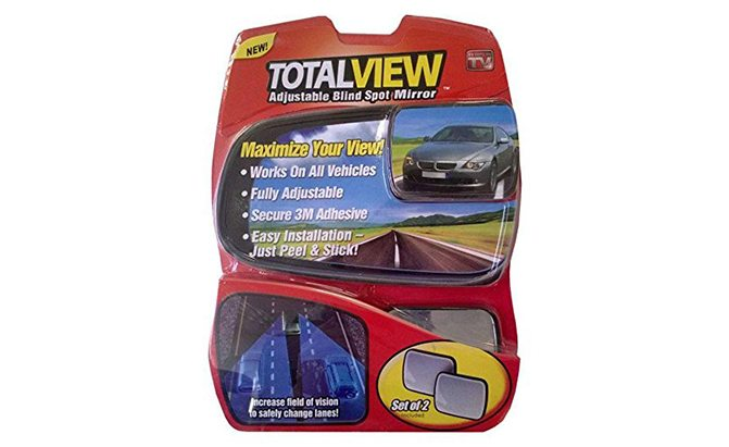 total view 360 wide angle adjustable blind spot mirror