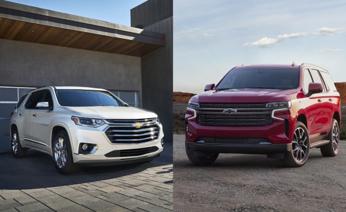 2021 Chevrolet Traverse vs 2021 Chevrolet Tahoe