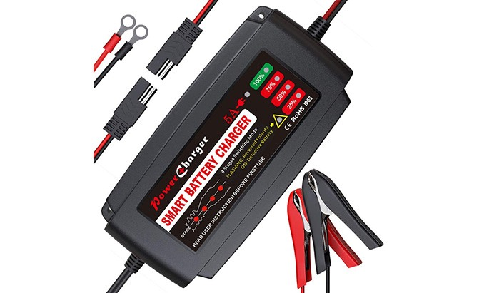 bmk smart battery charger/maintainer