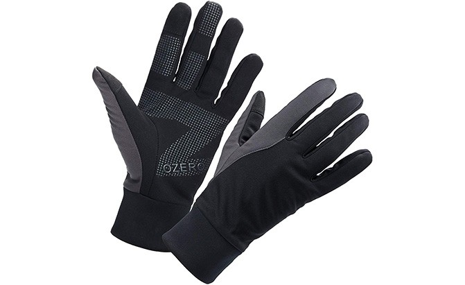 MARKS and SPENCER Thermal GLOVES Wind Resistant Fleece lined Black medium