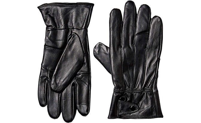 Mens Luxury Genuine Goatskin Leather Driving Gloves Unlined for a tighter fit and extra flexibility-Red//White