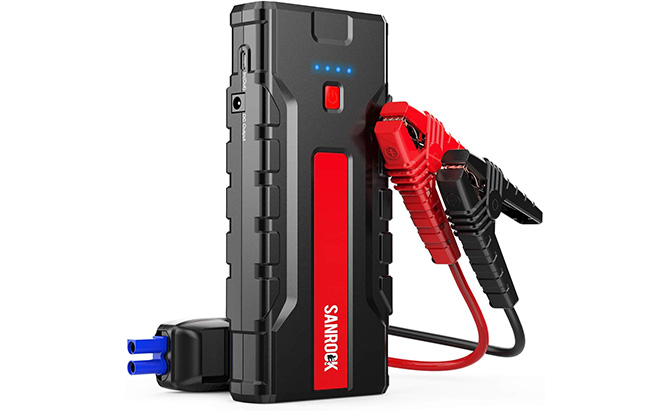 sanrock portable car jump starter
