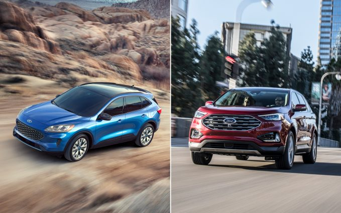 Ford Edge Vs Escape >> 2020 Ford Escape Vs 2020 Ford Edge Comparison Autoguide Com
