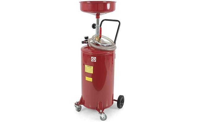 arksen portable waste oil drain tank