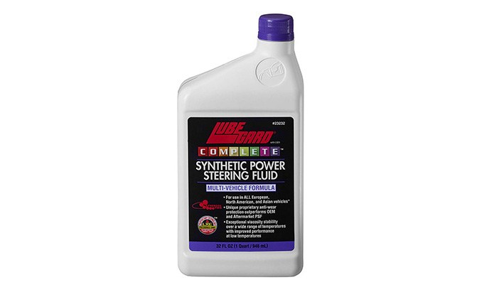 lubegard complete synthetic power steering fluid