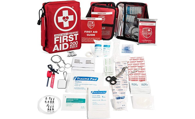 swiss safe 200-piece first aid kit