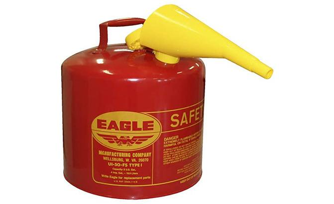 eagle galvanized steel gas can