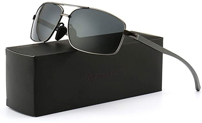 sungait rectangular polarized sunglasses