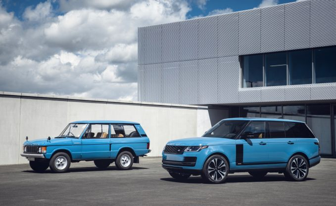 2021 Land Rover Range Rover Fifty with classic 1970 Range Rover