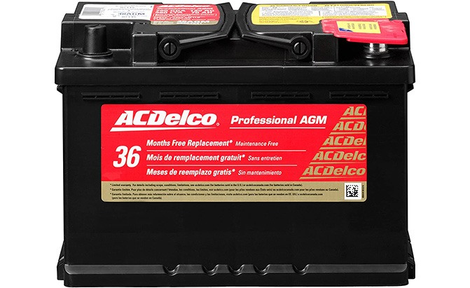 acdelco professional agm battery