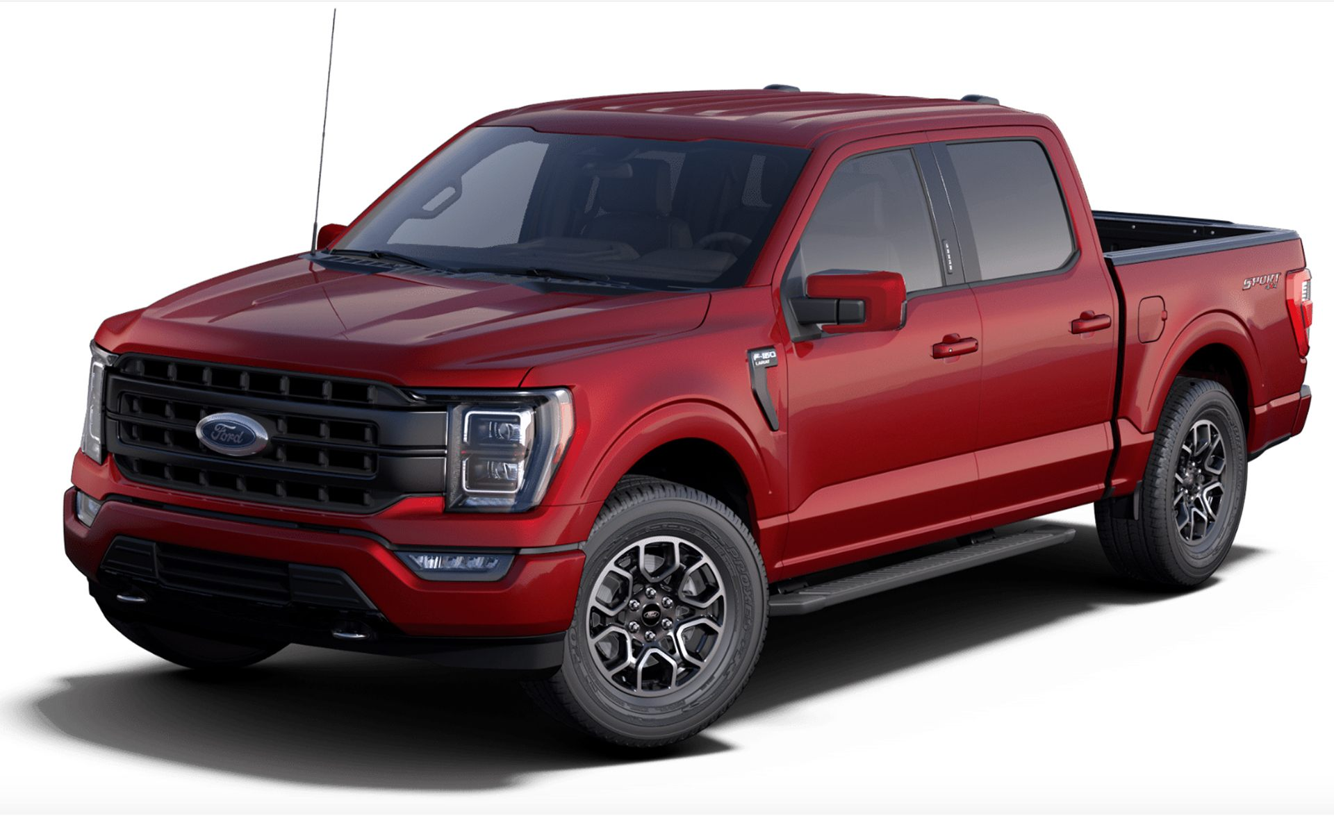 2021 Ford F-150 Lariat in Rapid Red
