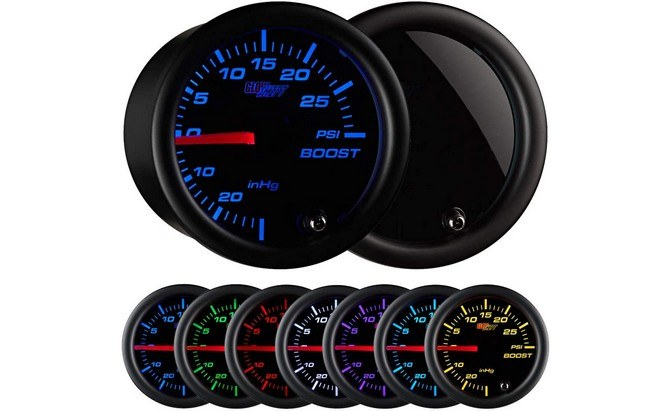 GlowShift Tinted 7 Colour Turbo Boost Gauge