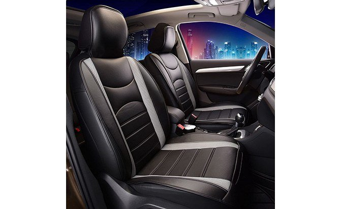 fh group leatherette car seat cushions