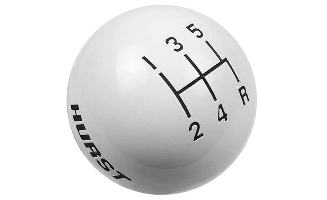 hurst white 5-speed shift knob