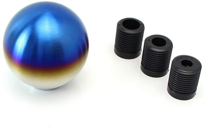 ijdmtoy burnt titanium finish shift knob