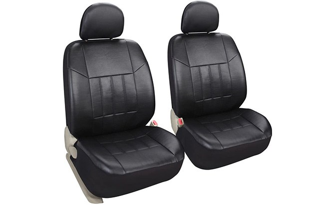leader accessories auto 2 leather seat covers