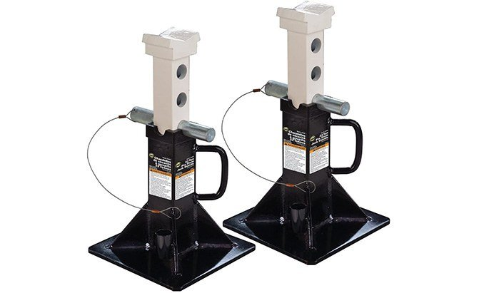 omega black heavy duty jack stands