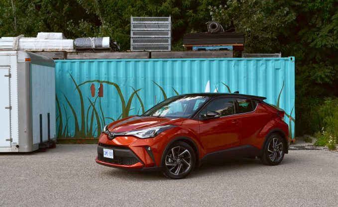 2020 Toyota C-HR Limited Review, front three-quarter static shot in Hot Lava