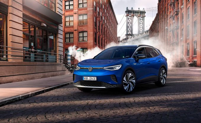 2021 Volkswagen ID.4 in blue