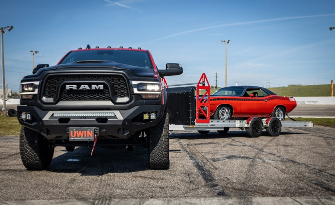 Win a 1970 'Cuda, 2019 Ram Power Wagon and car trailer as part of the Dream Giveaway Show & Tow prize package.