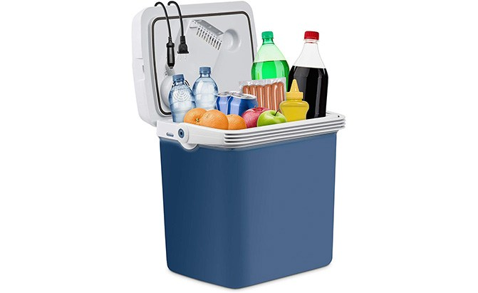 ivation 27-quart electric cooler and warmer