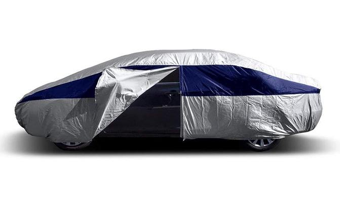 The Titan Lightweight Car Cover has a secret weapon: a driver-side zippered door allows you to access your car's interior without removing the car cover, which can be a tremendous convenience and a major time-saver.