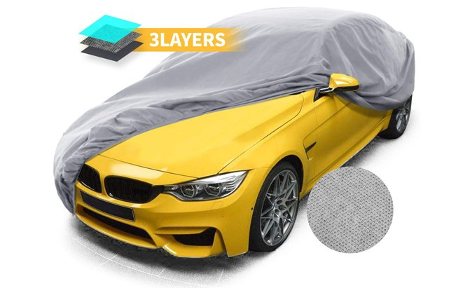 The well-dressed sedan needs a Car Dress Sedan Cover for indoor storage.