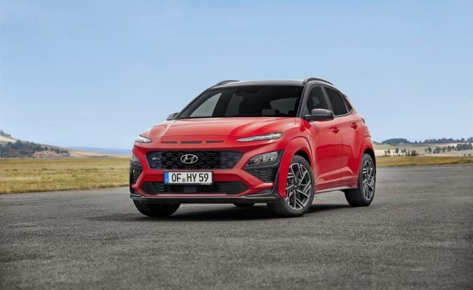 2022 Hyundai Kona N Line in red
