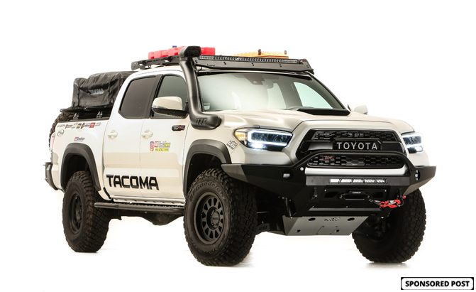 Toyota fully kitted out a Tacoma TRD Pro for SEMA360.